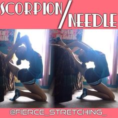 Scorpion/Needle stretch!! I used my bed but you can use a couch or chair! Make sure you are breathing when doing this stretch and focusing mainly on balancing! Hope everyone has a nice day!! ∞Meg