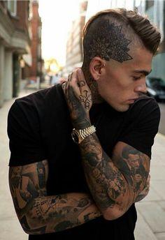 Saturday crush Name: Stephen James (Stephen James Hendry) Age: 25 (December Head Tattoos, Body Art Tattoos, Sleeve Tattoos, Tatoos, Arabic Tattoos, Tattoo Sleeves, Dragon Tattoos, Girl Tattoos, Scalp Tattoo