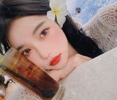 Voss Bottle, Water Bottle, Forbidden Fruit, Asian Girl, Korean Girl, Drinks, Makeup, Ulzzang, Girls