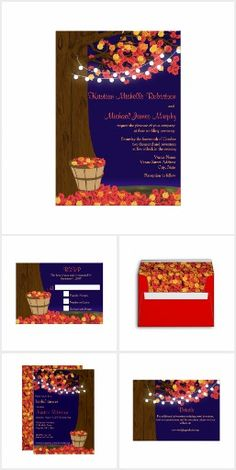 Rustic Fall Oak Tree Wedding Collectoin