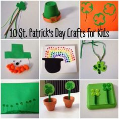 Here 10 St. Patrick's Day Crafts for Kids! Enjoy your afternoon.