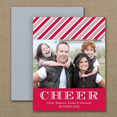 Cheerful Stripes - Photo Holiday Magnet   |  40% OFF  |  http://mediaplus.carlsoncraft.com/Holiday/Photo-Cards/YU-YU25623-Cheerful-Stripes--Photo-Holiday-Magnet.pro