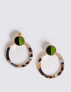 Tort Stud Hoop Earrings | Marks & Spencer London