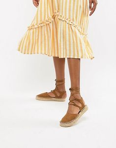 1b2333094d3873 South Beach Tan Ankle Tie Espadrilles Schuhe Gelb