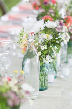 table top decor for outdoor party