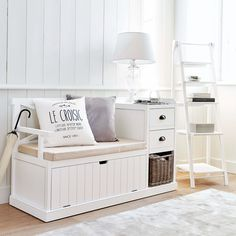 Discover Maisons du Monde's [product_name]. Browse a varied range of stylish, affordable furniture to add a unique touch to your home. Porch Storage, Bench With Storage, Indoor Storage Bench, Entryway Bench Storage, Storage Benches, Cheap Rustic Decor, Cheap Home Decor, Hallway Decorating, Decorating Your Home