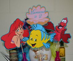 Little Mermaid Ariel and Friends  Centerpeice / Table Topper 4pc set