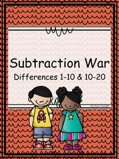 """Aligned with the first grade common core standards, students can practice addition facts for sums 1-10 and 10-20, along with blank customizable cards for other facts. Game is played just as traditional """"war"""" is played with a deck of cards. 2 sets of cards are included (sums 1-10 and sums 10-20), along with a black and white set of cards for each, and a recording sheet."""