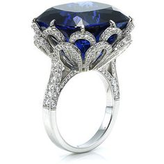 Ashok Sancheti - Ashok Sancheti Lotus Blossom Tanzanite and Diamond Ring - Designs by Ashok Sancheti Jewelry Box, Jewelry Rings, Vintage Jewelry, Jewelry Accessories, Fine Jewelry, Jewelry Design, Jewellery, Flower Jewelry, Diamond Dreams