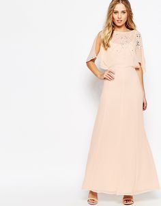 ASOS+Embellished+Flutter+Sleeve+Maxi+Dress