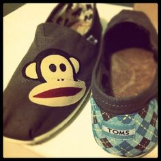 Check out these sweet #PaulFrank-ified Julius TOMS!! They were hand painted by our wonderful fan, Christina H.!