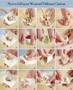 How to make Chinese Chicken Wontons at Home? Chinese Chicken, Chinese Food, Chinese Desserts, Chinese Dumplings, Steamed Dumplings, Dumpling Recipe, Wan Tan, Chicken Wontons, Wonton Recipes