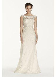 Melissa Sweet Illusion Sleeve Lace Wedding Dress MS251124