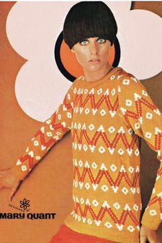 Vintage Mary Quant fair isle knitting pattern