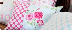 Nostalgic Prints is a beautiful fabric collection of charming cotton duck prints from Clarke & Clarke, featuring vintage inspired designs Soft Furnishings, Printing On Fabric, Pillow Inspiration, Fabric Houses, Fabric Collection, Romantic Decor, Fabric, Shop Wallpaper, Fabric Decor