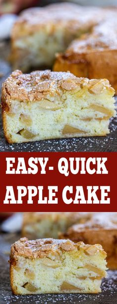 Obsessed with this Apple Cake Recipe, your entire family will love it. Incredibl… Obsessed with this Apple Cake Recipe, your entire family will love it. Incredible treat with just a few ingredients. Pound Cake Recipes, Easy Cake Recipes, Easy Desserts, Sweet Recipes, Delicious Desserts, Delicious Cupcakes, Flour Recipes, Keto Desserts, Quick Apple Dessert