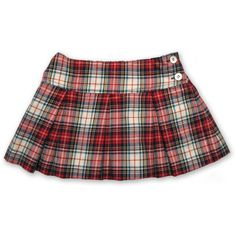 Pleated Skirt in White/Red Plaid (130 AUD) ❤ liked on Polyvore featuring skirts, red pleated skirt, tartan pleated skirt, knee length pleated skirt, tartan plaid skirt and red skirt