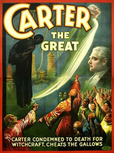 MAGIC CARTER THE GREAT ARAB SECRETS OF SPHINX TOMB DEVIL VINTAGE POSTER REPRO