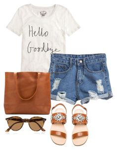 """""""Happy Labor Day!"""" by thepinkcatapillar on Polyvore featuring J.Crew, Jeffrey Campbell and Ray-Ban"""