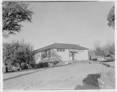 """Photo of an All-Black School, known at that time as the """"Negro School"""". Austin, Texas."""