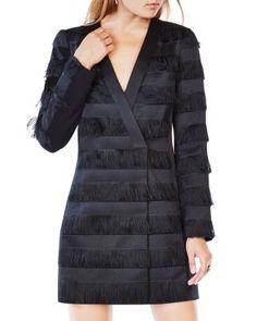 BCBGMAXAZRIA Anika Fringe Jacket Dress | Bloomingdale's