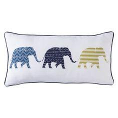 """Mudhut™ Etosha Row Elephant Pillow - 12x24"""""""