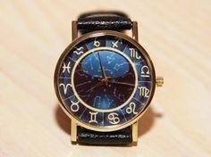 Wristwatch signs zodiaa Leather Watch Ladies by RedMadagaskar