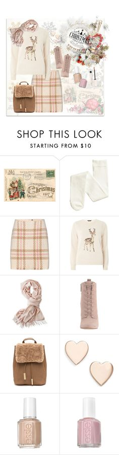 """Holiday Outfit 2016 One"" by mk-style ❤ liked on Polyvore featuring MARC CAIN, Dorothy Perkins, Mark & Graham, BCBGeneration, Poppy Finch, Essie and By Terry"