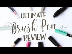 If you've been following my lettering journey for a while, you may have seen the first iteration of this post, done in mid-2016. Now, over 30 pens and many sheets of paper later, I'm bringing the ultimate brush pen review back bigger and better! (Some of the links in this post are affiliate links. This …