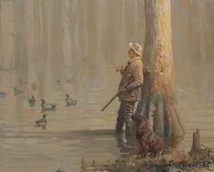 Not Just Wildlife Art of John & Suzie Seerey-Lester Duck Hunting Tattoos, Hunting Drawings, Hunting Art, Hunting Dogs, Wildlife Paintings, Wildlife Art, Vintage Illustration Art, Hunting Pictures, Waterfowl Hunting