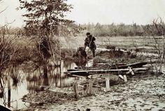 Mathew Brady photo of soldiers graves on the battlefield at Bull Run, Virginia.