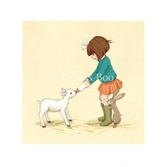 belle and her little lamb - belle and boo