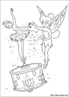 Tinkerbell Coloring Page. Disney Fairies. Poussière de fées