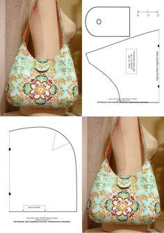 Handbag Patterns, Bag Patterns To Sew, Fabric Purses, Diy Bags Purses, Fabric Bags, Sew Bags, Denim Purse, Bag Pattern Free, Craft Bags