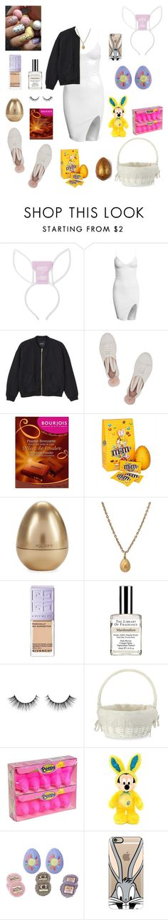 """Easter!"" by leah93-1 ❤ liked on Polyvore featuring Monki, Minna Parikka, Bourjois, Tony Moly, Givenchy, Williams-Sonoma, Disney, Yankee Candle and Casetify"
