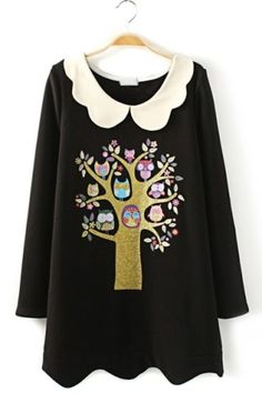 Favorite Tree Graphic Tunic - OASAP.com