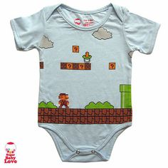 Cue the Super Mario Brothers theme song! Mommy and daddy had lots of good times playing Nintendo as kids. This Super Mario Onesie ($17), with a pacifier instead of a mushroom, will have new parents reminiscing and loving Mario once again but for completely different reasons.
