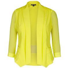 Women's plus size yellow jacket