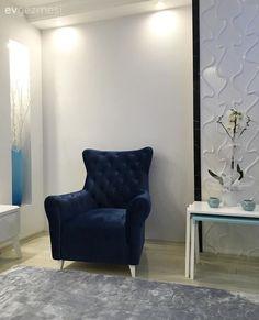 Mimar çiftin kendi tasarladıkları, kullanışlı ve şık evleri.. | Ev Gezmesi Accent Chairs, Flat, Modern, Furniture, Home Decor, Living Room, Upholstered Chairs, Bass, Trendy Tree