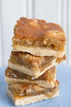 Butter Tart Bars, a delicious way to get that amazing butter tart taste with a lot less work! The squares bake up just like butter tarts - but in bar form!