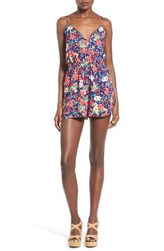 Everly Floral Print Romper
