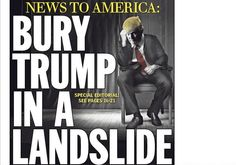 The Daily News published a blistering, 14-chapter editorial that railed against Donald Trump and everything that he stands for.  When the Manhattan businessman launched his presidential campaign in the summer of 2015, the Daily News depicted the Republican as a clown.