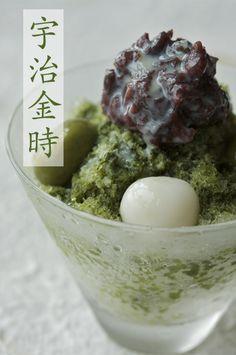 Ujikintoki - Japanese shaved ice dessert