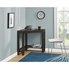 Indoor Multi-Function Accent Table Study Computer Home Office Desk Bedroom Living Room Modern Style End Table Sofa Side Table Coffee Table Black Corner Table Altra Furniture, Red Desk, Home Office Desks, Desk With Drawers, Home, Corner Writing Desk, Room, Corner Desk, Furniture