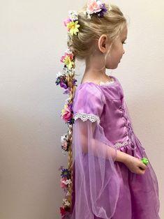 Rapunzel Hair Clips – Rapunzel Costume – Rapunzel Birthday – Kids Halloween – Rapunzel Braid – Disney – Flower Hair Clips - All For Hairstyles Halloween Hair, Halloween Costumes For Girls, Girl Costumes, Halloween 2019, Flower Hair Clips, Flowers In Hair, Flower Headbands, Repunzel Costume, Rapunzel Halloween Costume