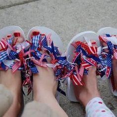 Patriotic Flip Flops {Memorial Day Activities}