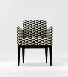 stunning geo pattern chair black and white - delish! City Chairs