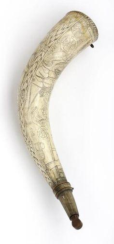 Gunner's priming-horn   dated 1615