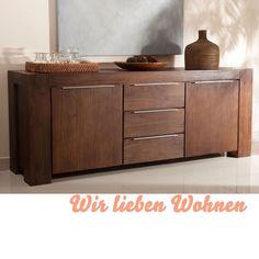 Sideboard Kommode Anrichte massiv Holz kolonial Pinie Anrichte  14591