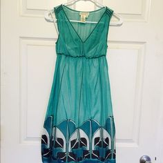 Teal Dress Gentle used. Fully lined. Stops above the knee. Dresses